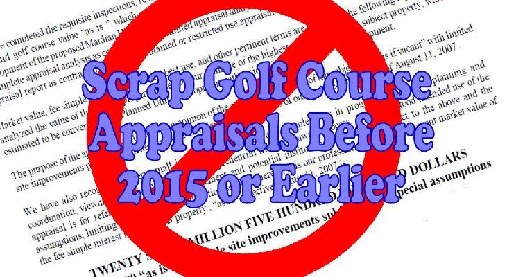 Scrap Golf Course Appraisals Before 2015